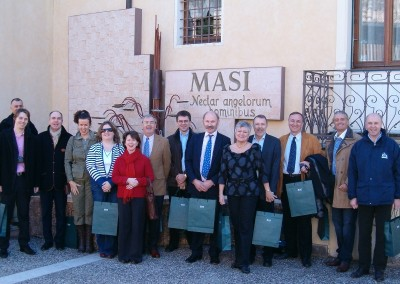 The EURASCO delegates during the organized visit at MASI Agricola SPA last February 2008