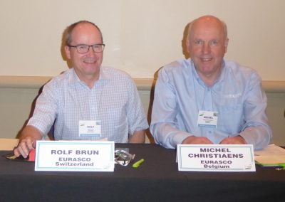 Eurasco Delegates Rolf Brun and Michel Christiaens at Farm Show Council AGM Orlando May 2018