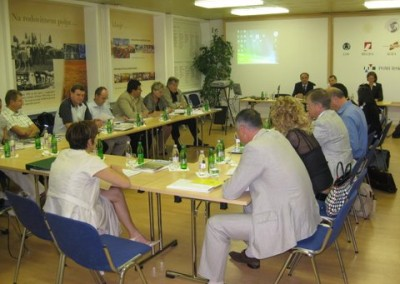 An image taken from the works of the EURASCO General Assembly in Gornja Radgona, Slovenia (28/8/09)
