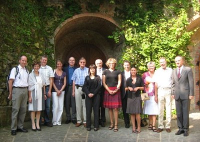 The EURASCO group during the technical visit at Radgonske Gorice wine cellar (29/8/08)