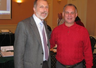 The EURASCO President Jan Pedersen with the NASFC (North American Farm Show Council)  President Curt Kleoppel during the first joint meeting on 30th November 2009