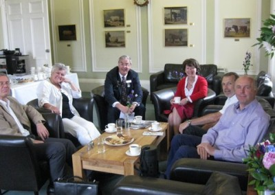 Meeting with the host Ray Jones during the technical visit at the Royal Highland Show on 26th June 2010