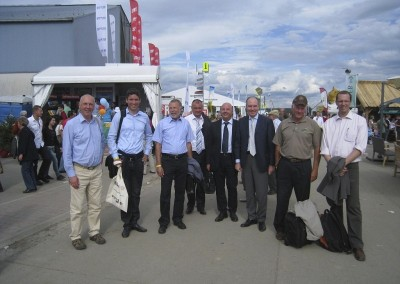 Some delegates visiting the Agriculture Fair in Libramont (Belgium) in July 2011