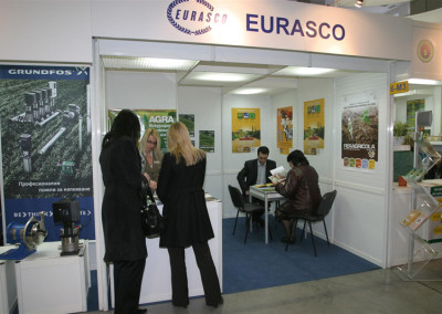 Great success for the EURASCO stand in AGRA (18/22 February 2009 in Plovdiv, Bulgaria) with the distribution of material sent by 8 members