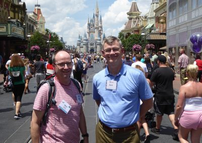 Presidents of Eurasco Rolf Brun and Farm Show Council David Zimmerman at Disney Magic Kingdom