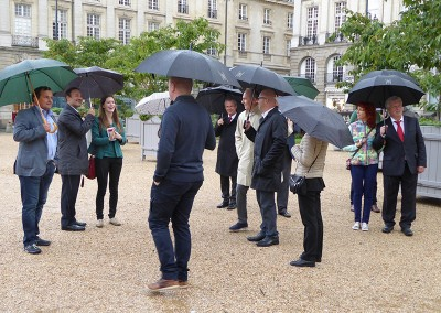 Rennes 2015: the town guided visit under the rain…