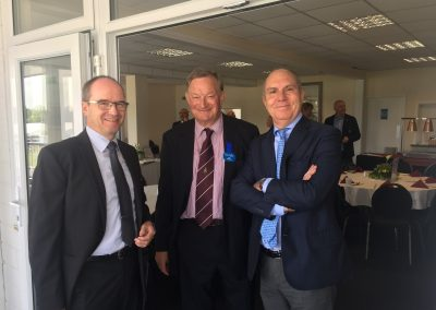 Rolf Brun (President EURASCO), Michael Lambert (Secretary RASC), Giovanni Colombo (EURASCO Secretary General) in Bath